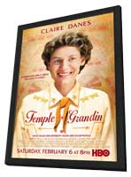 Temple Grandin - 27 x 40 Movie Poster - Style A - in Deluxe Wood Frame