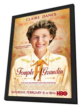Temple Grandin - 11 x 17 Movie Poster - Style A - in Deluxe Wood Frame