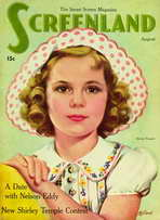 Shirley Temple - 11 x 17 Screenland Magazine Cover 1930's Style A
