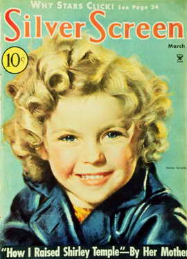 Shirley Temple - 11 x 17 Silver Screen Magazine Cover 1930's Style A