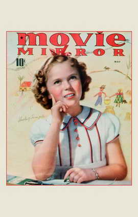 Shirley Temple - 11 x 17 Movie Mirror Magazine Cover 1930's Style A