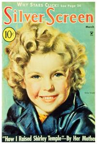 Shirley Temple - 27 x 40 Movie Poster - Silver Screen Magazine Cover 1930's Style A