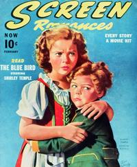 Shirley Temple - 27 x 40 Movie Poster - Screen Romances Magazine Cover 1940's Style A