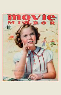 Shirley Temple - 27 x 40 Movie Poster - Movie Mirror Magazine Cover 1930's Style A