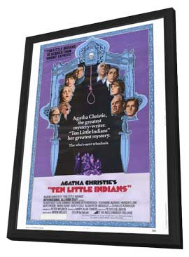 Ten Little Indians - 11 x 17 Movie Poster - Style A - in Deluxe Wood Frame