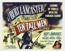Ten Tall Men - 11 x 14 Movie Poster - Style B