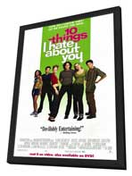 Ten Things I Hate About You - 11 x 17 Movie Poster - Style B - in Deluxe Wood Frame
