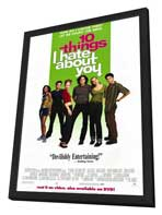 Ten Things I Hate About You - 27 x 40 Movie Poster - Style B - in Deluxe Wood Frame