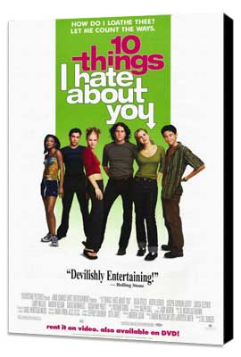 Ten Things I Hate About You - 27 x 40 Movie Poster - Style B - Museum Wrapped Canvas