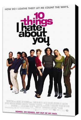 Ten Things I Hate About You - 27 x 40 Movie Poster - Style A - Museum Wrapped Canvas