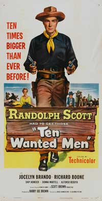 Ten Wanted Men - 20 x 40 Movie Poster - Style A