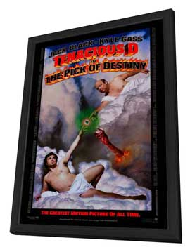 Tenacious D in The Pick of Destiny - 27 x 40 Movie Poster - Style A - in Deluxe Wood Frame