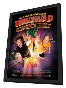 Tenacious D in The Pick of Destiny - 27 x 40 Movie Poster - French Style A - in Deluxe Wood Frame