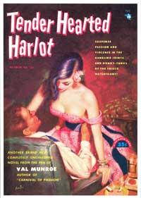Tender Hearted Harlot - 11 x 17 Retro Book Cover Poster