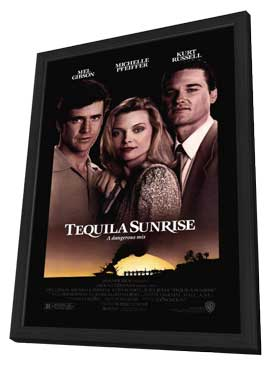 Tequila Sunrise - 11 x 17 Movie Poster - Style A - in Deluxe Wood Frame