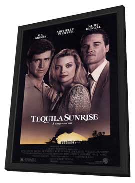 Tequila Sunrise - 27 x 40 Movie Poster - Style A - in Deluxe Wood Frame