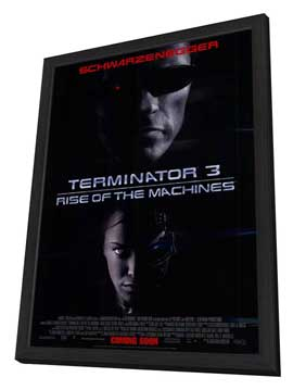 Terminator 3: Rise of the Machines - 11 x 17 Movie Poster - Style C - in Deluxe Wood Frame