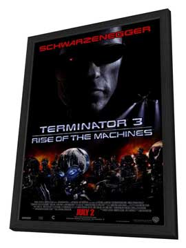 Terminator 3: Rise of the Machines - 27 x 40 Movie Poster - Style A - in Deluxe Wood Frame