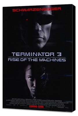 Terminator 3: Rise of the Machines - 11 x 17 Movie Poster - Style C - Museum Wrapped Canvas