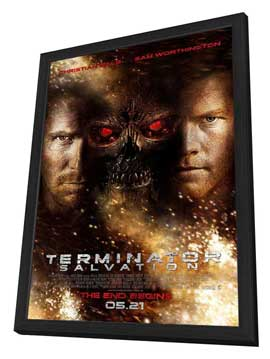 Terminator: Salvation - 27 x 40 Movie Poster - Style E - in Deluxe Wood Frame