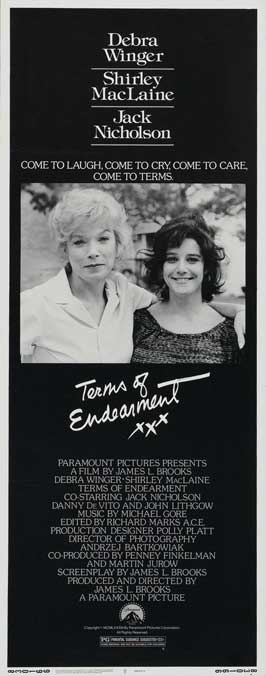 Terms of Endearment - 14 x 36 Movie Poster - Insert Style A