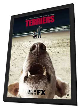 Terriers (TV) - 11 x 17 TV Poster - Style A - in Deluxe Wood Frame