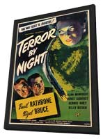 Terror by Night - 11 x 17 Movie Poster - Style A - in Deluxe Wood Frame