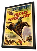 Texans Never Cry - 27 x 40 Movie Poster - Style A - in Deluxe Wood Frame