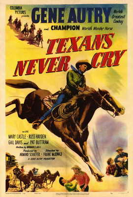 Texans Never Cry - 27 x 40 Movie Poster - Style A