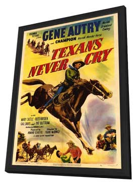 Texans Never Cry - 11 x 17 Movie Poster - Style A - in Deluxe Wood Frame