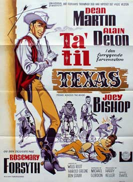 Texas across the River - 11 x 17 Movie Poster - Danish Style A