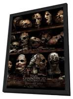 Texas Chainsaw 3D - 11 x 17 Movie Poster - Style B - in Deluxe Wood Frame