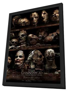 Texas Chainsaw 3D - 27 x 40 Movie Poster - Style B - in Deluxe Wood Frame