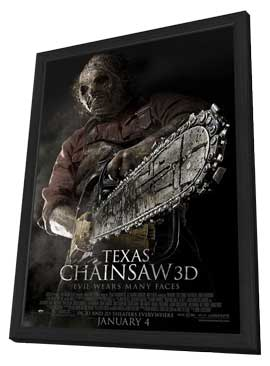 Texas Chainsaw 3D - 27 x 40 Movie Poster - Style C - in Deluxe Wood Frame