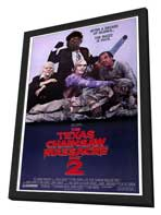 The Texas Chainsaw Massacre 2 - 11 x 17 Movie Poster - Style A - in Deluxe Wood Frame