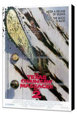 The Texas Chainsaw Massacre 2 - 27 x 40 Movie Poster - Style B - Museum Wrapped Canvas
