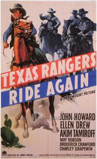 Texas Rangers Ride Again - 27 x 40 Movie Poster - Style A