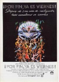 Thank God It's Friday - 27 x 40 Movie Poster - Spanish Style A