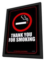 Thank You for Smoking - 11 x 17 Movie Poster - Style A - in Deluxe Wood Frame
