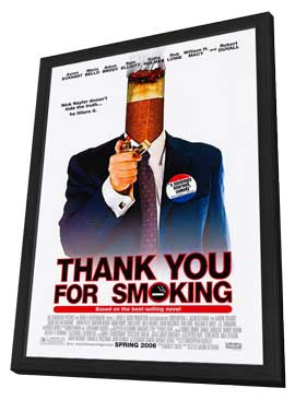 Thank You for Smoking - 27 x 40 Movie Poster - Style B - in Deluxe Wood Frame