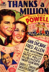 Thanks a Million - 11 x 17 Movie Poster - Style A