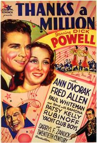 Thanks a Million - 43 x 62 Movie Poster - Bus Shelter Style A