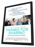 Thanks For Sharing - 11 x 17 Movie Poster - Style A - in Deluxe Wood Frame