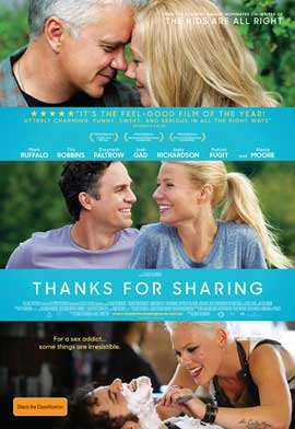 Thanks For Sharing - 11 x 17 Movie Poster - Australian Style A