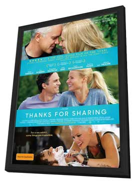Thanks For Sharing - 11 x 17 Movie Poster - Australian Style A - in Deluxe Wood Frame