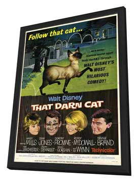 That Darn Cat - 27 x 40 Movie Poster - Style A - in Deluxe Wood Frame