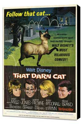 That Darn Cat - 27 x 40 Movie Poster - Style A - Museum Wrapped Canvas