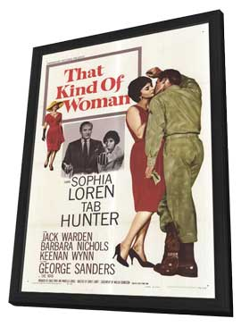 That Kind of Woman - 11 x 17 Movie Poster - Style A - in Deluxe Wood Frame