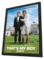 That's My Boy - 11 x 17 Movie Poster - Style A - in Deluxe Wood Frame