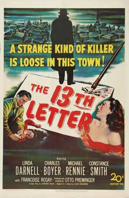 The 13th Letter - 27 x 40 Movie Poster - Style A